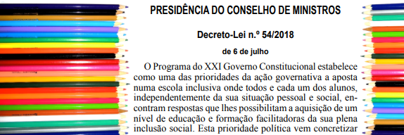 Moving on from special education… The Portuguese new legislation on inclusive education